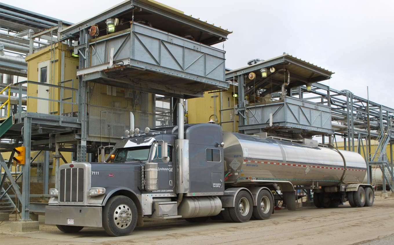 Photo of tanker truck at a loading rack
