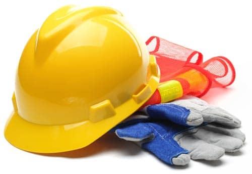 Photo of Safety gear - Hard Hat, Gloves, Hi-vis Vest