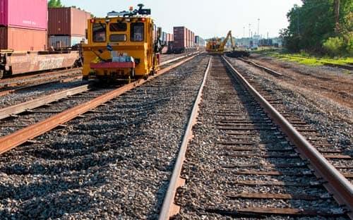 Photo of track maintenance